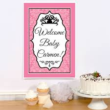 princess baby shower royal princess baby shower personalized party poster
