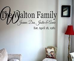 personalized family name with established date vinyl wall