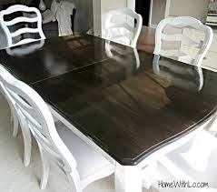 how to refinish veneer table tutorial on refinishing a wood veneer table top using paint and