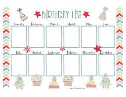 Free Birthday Calendar Template Excel Free Birthday Calendar
