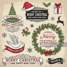 christmas signs retro christmas signsbanners and frames vector getty images