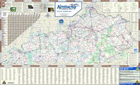 Kentucky Map With Cities Large Detailed Highways Map Of Kentucky State With All Cities And