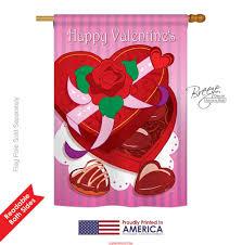 Decorative Sports Flags Valentine U0027s Day Chocolates House Flag Decorative Flags