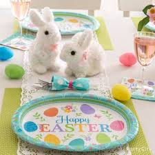Easter Bunny Decorations Ideas by Easter Bunnies And Eggs Decorating Idea Party City