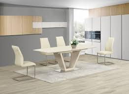 White Glass Extending Dining Table Ga Loriga Gloss Glass Designer Dining Table Extending 160