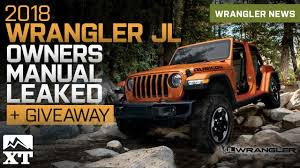 jeep owner 2018 jeep wrangler jl owners manual guide leaked youtube