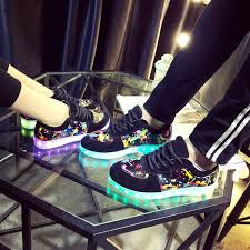light up sole shoes men colorful glowing shoes lumineuse with usb light up charger led