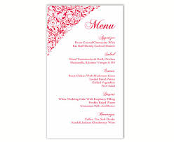 wedding menu cards template wedding menu template diy menu card template editable text word