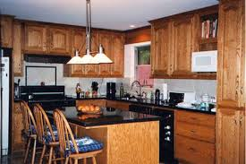 red kitchen walls with wood cabinets red oak cabinet doors