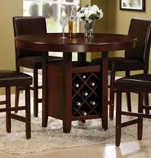 Dining Room Table With Wine Rack Counter Height Dining Table With Wine Rack Cherry