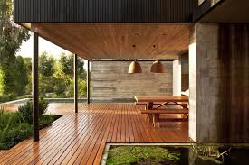 wood home interiors rock house with black painted wood
