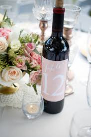 gold wine bottle table numbers kaylee and ryan a romantic rose gold wedding table numbers