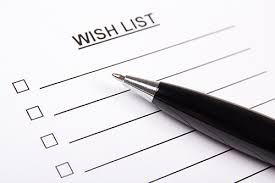 wish list donation wish list