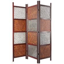tall room dividers oriental furniture bamboo leaf room divider hayneedle