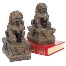 lion foo dog design toscano foo dog 2 guardian lion figurine set