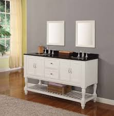 Bathroom Vanity Unit Worktops Magnificent Double Sink White Bathroom Vanity Using Round