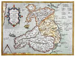 Map Of Wales Humphrey Llwyd U0027s Map Of Wales Mapping The March Of Wales