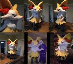 halloween pokemon background repeating life sized braixen with a human trapped inside imgur