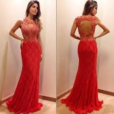j85 prom dresses red lace mermaid prom dresses open back prom