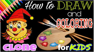 how to draw joker coloring pages for kids learn colors for kids