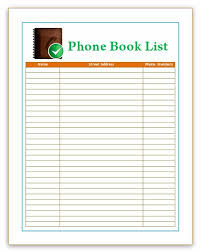 Microsoft Excel Address Book Template Best Photos Of Phone Directory Format Phone Directory Template