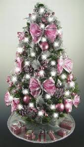 pinterest christmas tree pink purple and silver decorations