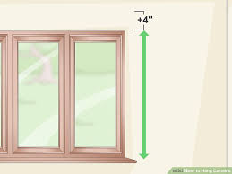 How To Hang Sheers And Curtains How To Hang Curtains 15 Steps With Pictures Wikihow