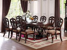 empire wooden dining table with 8 chairs dining room furniture