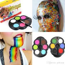 popfeel brand rainbow body paint color neon uv glowing face