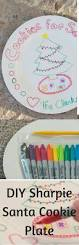 diy santa cookie plate tutorial made with sharpies