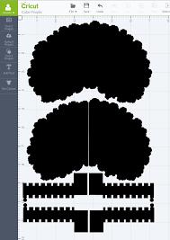 pop up paper apple tree card 3d sliceform sliceform cricut