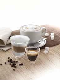 amazon com delonghi double walled thermo espresso glasses set