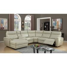 Ivory Leather Loveseat Lyke Home Bryce Ivory Leather Gel Power Recliner Sectional Free