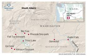 Map Of Lake Washington by Mount Adams At Trout Lake Wash Delights Winter Visitors With