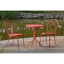Garden Treasures Bistro Chair Steel Patio Furniture Sets Foter