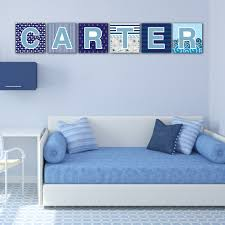 navy stripes nursery wall letters a z trendy wall squares