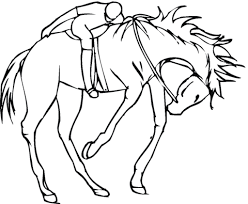 jockey horse coloring free printable coloring pages