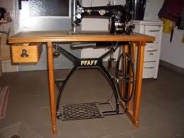 vintage retro 1951 pfaff sewing machine space saver cabinet center