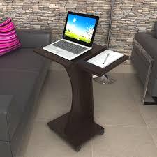 Adjustable Rolling Laptop Desk by Inval America Rolling Laptop Cart