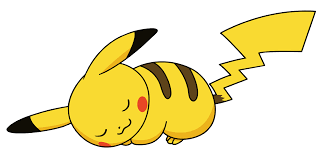 pikachu clipart cute sleeping pencil and in color pikachu