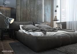 dark themed bedrooms metal frame bed wooden bench metal frame