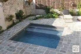 petite piscine enterree reportage photo piscine et terrasse en pierre naturelle piscinelle