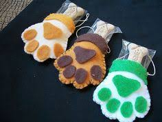 personalized paw print ornament gift for owners sewn