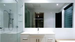 tv in a mirror bathroom tv mirror in bathroom diy frame canada screen australia unmuh info