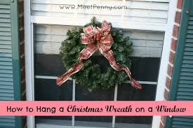how to hang a wreath on a window meet