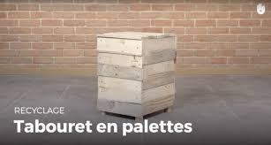 Recyclage Cagette Bois Fabriquer Un Tabouret Pouf En Bois De Palette Recycler Youtube