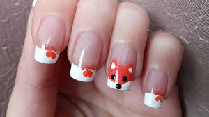 cute fox nail art tutorial youtube
