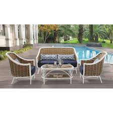 Rite Aid Home Design Wicker Arm Chair Blue Hanover Patio Furniture Shop The Best Outdoor Seating