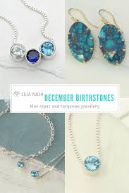 birthstones december birthstone blue topaz and turquoise jewellery lilia
