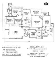 Open Floor Plan Ranch Style Homes Small House Plans Free Bedroom One Story With Bat Home Bonus Room